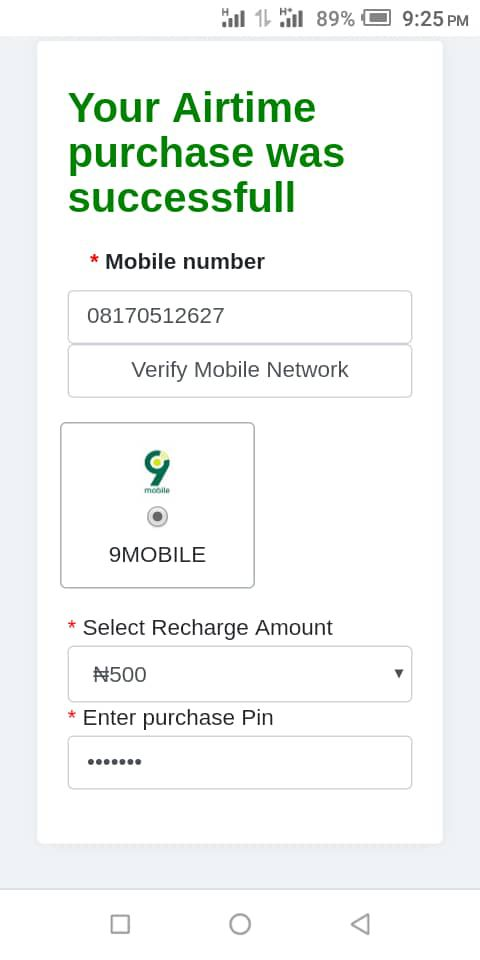 Recharge and get paid purchase pin
